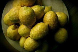 Fresh lemons, waiting to become cayenne lemonade