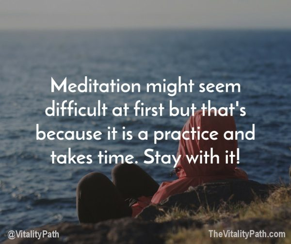 Meditation is a practice. Keep practicing...